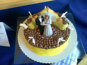 my exhibition cake finish by Drayo