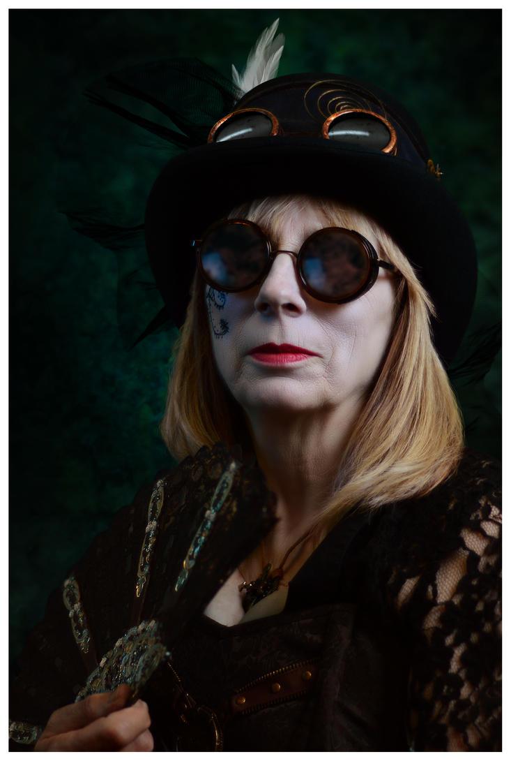 Ravens Morris - Steampunk Morris Dancer Portrait by timyouster
