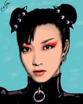 Chun Li Punk Andy Warhol Style by CriticalArt64