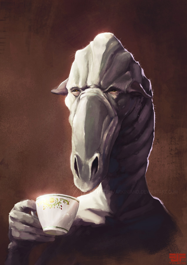 Cup of tea by Arkiniano