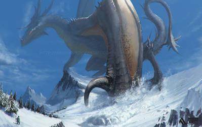 Grey Dragon by FJFT-Art