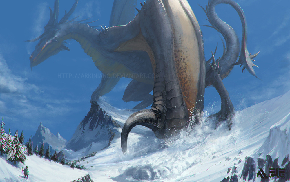 Grey Dragon by Arkiniano