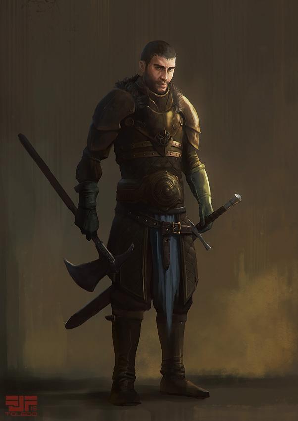 Warrior character by Arkiniano