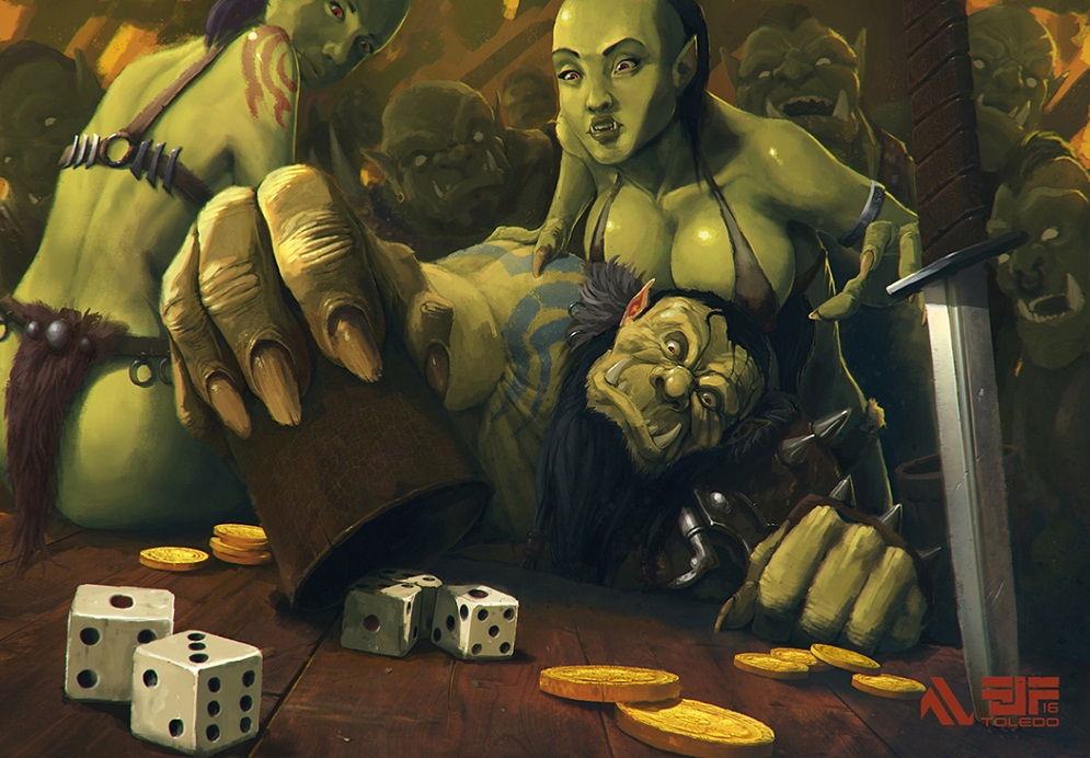 The lucky orc by Arkiniano
