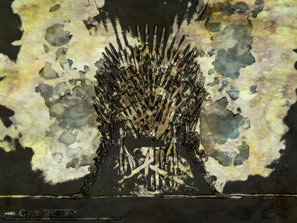 The iron throne abstract watercolor by hernandez henson on for Iron throne painting