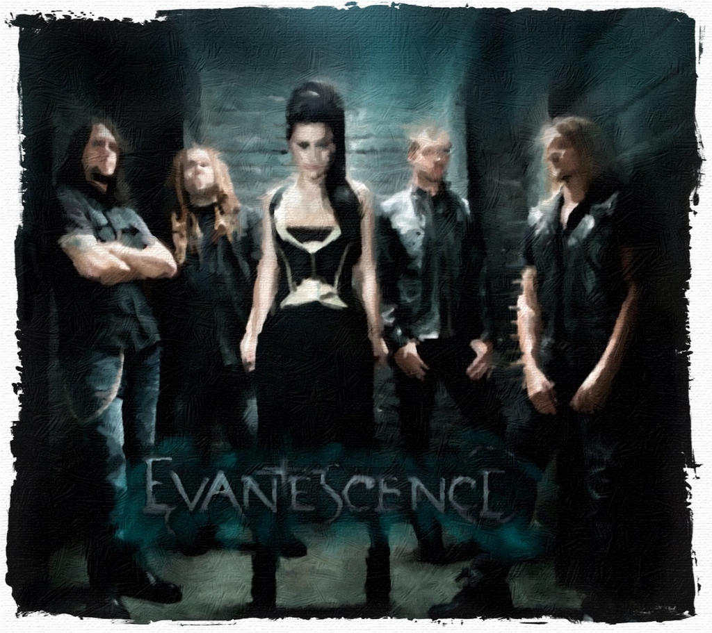 Evanescence Album Cover Abstract Oil by Hernandez-HensonEvanescence Album Cover 2013