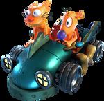 Nickelodeon Kart Racers 2 CatDog PNG