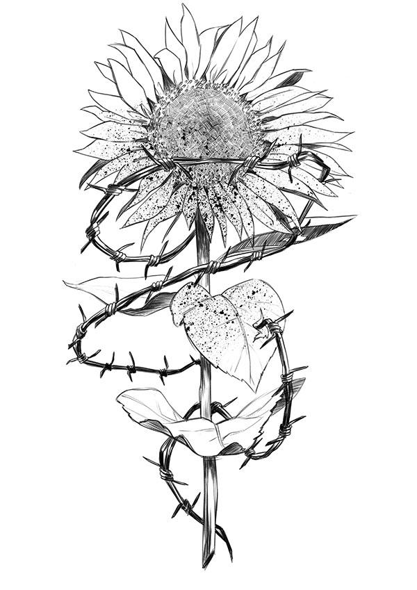 The Evil Sunflower by Lagro-Ross