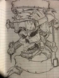 Soldier skull rotated