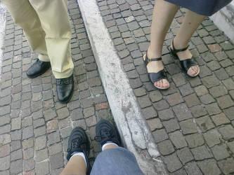 Our feet walking in Trieste by janedmcgeneric