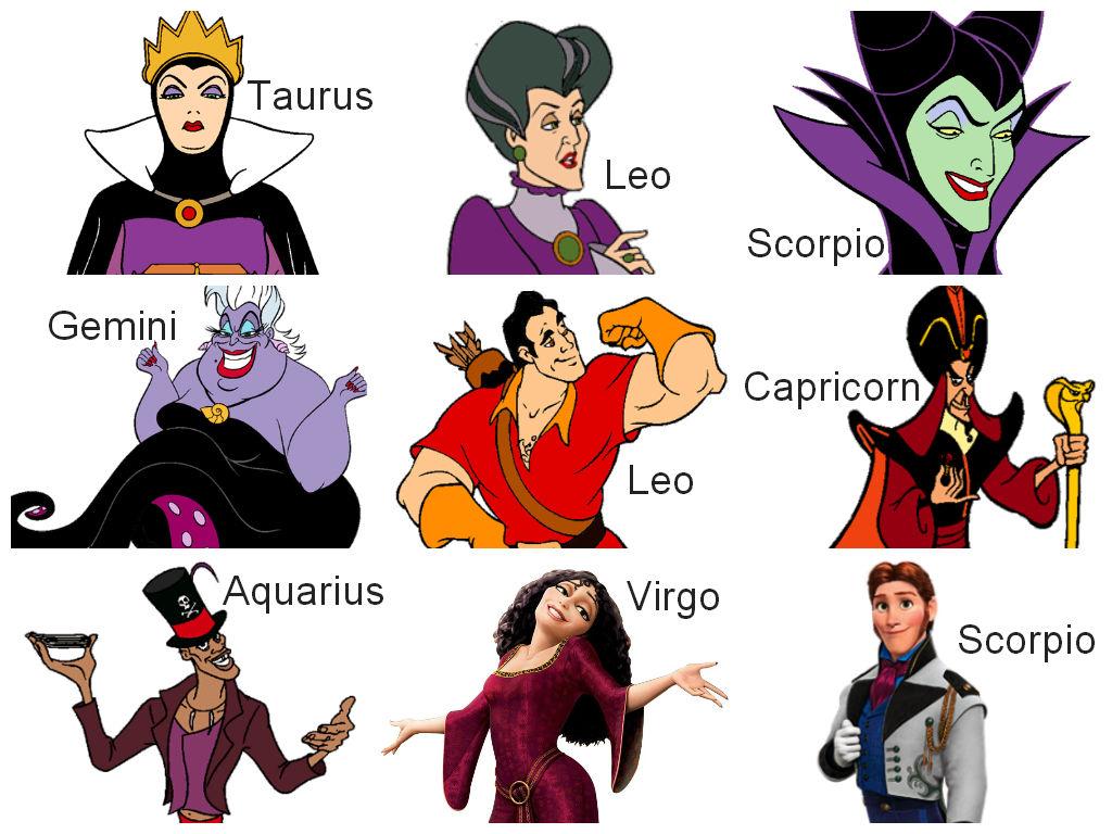 Disney Villains Zodiac By Drenlover On Deviantart