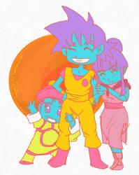 Son family: Goku, Chi Chi, Gohan by ssjgirl