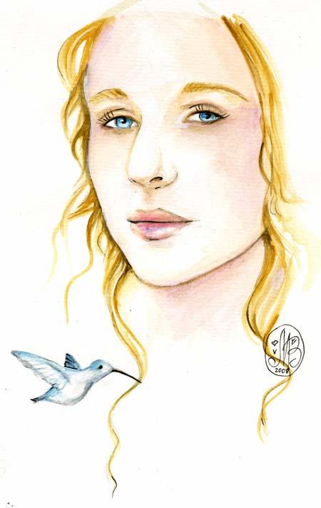 Feeling blue by Maria-van-Bruggen