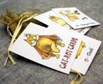 Cat-rot cards or Tarot cat car by Maria-van-Bruggen