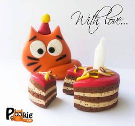 PookieCat birthday by Maria-van-Bruggen