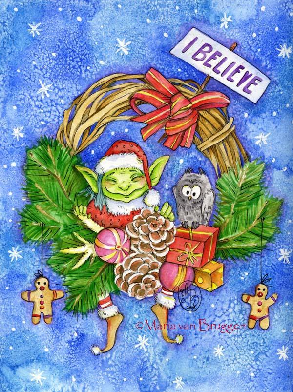 Faery Christmas by Maria-van-Bruggen