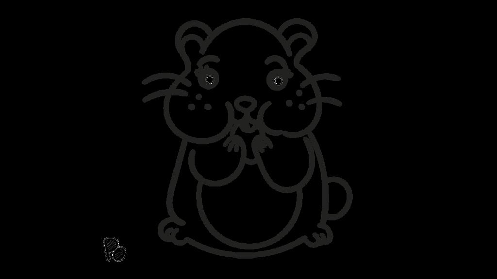 Hamster Kawaii Para Colorear Hámster 109 Animales Páginas para ...