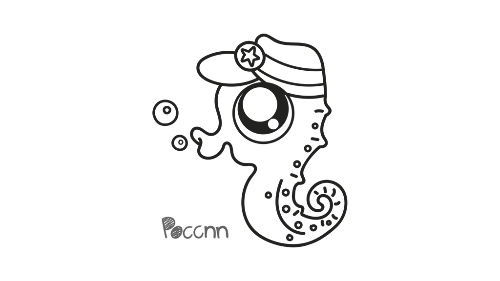 cute seahorse to color by poccnnindustries on deviantart