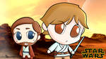Chibi Luke Skywalker and ObiWan Wallpaper Star War by PoccnnIndustries