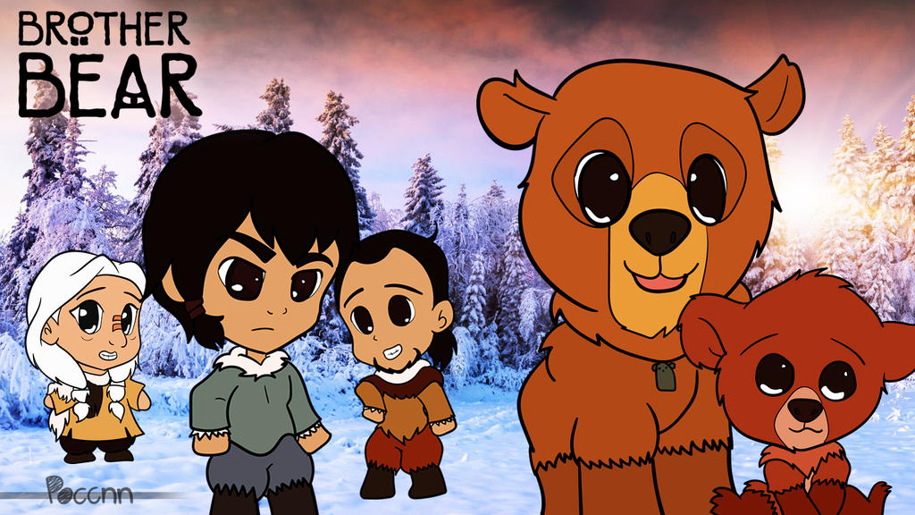Chibi Brother Bear Wallpaper By Poccnnindustries On Deviantart
