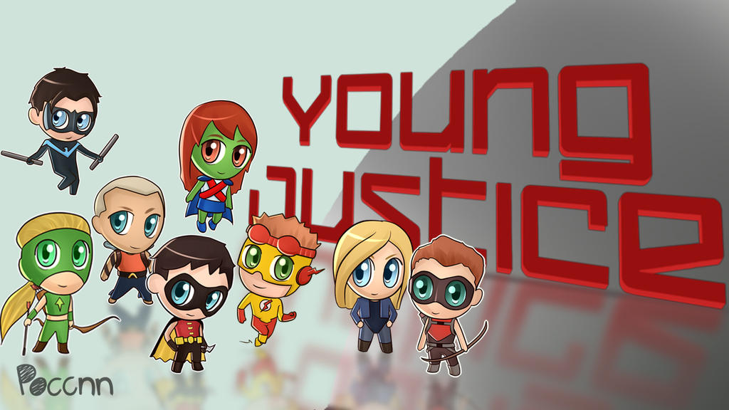 Chibi Young Justice Wallpaper By PoccnnIndustries