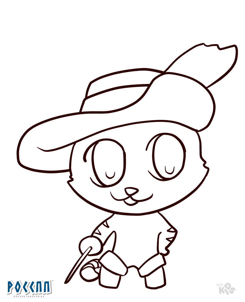 Chibi Puss in Boots to color (Shrek) Lineart by PoccnnIndustries on ...
