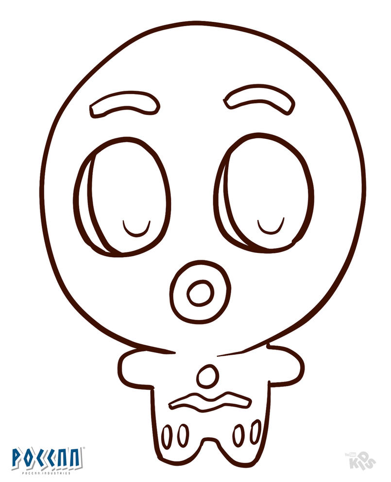 Chibi Gingerbread Man to color (Shrek) Lineart by PoccnnIndustries ...