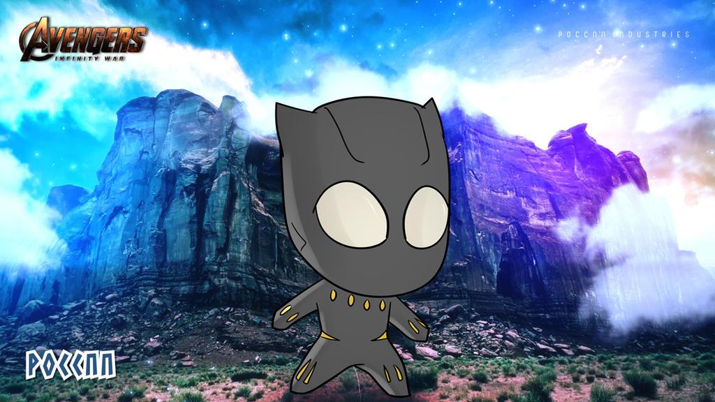 Chibi Black Panther Wallpaper Avengers By Poccnnindustries