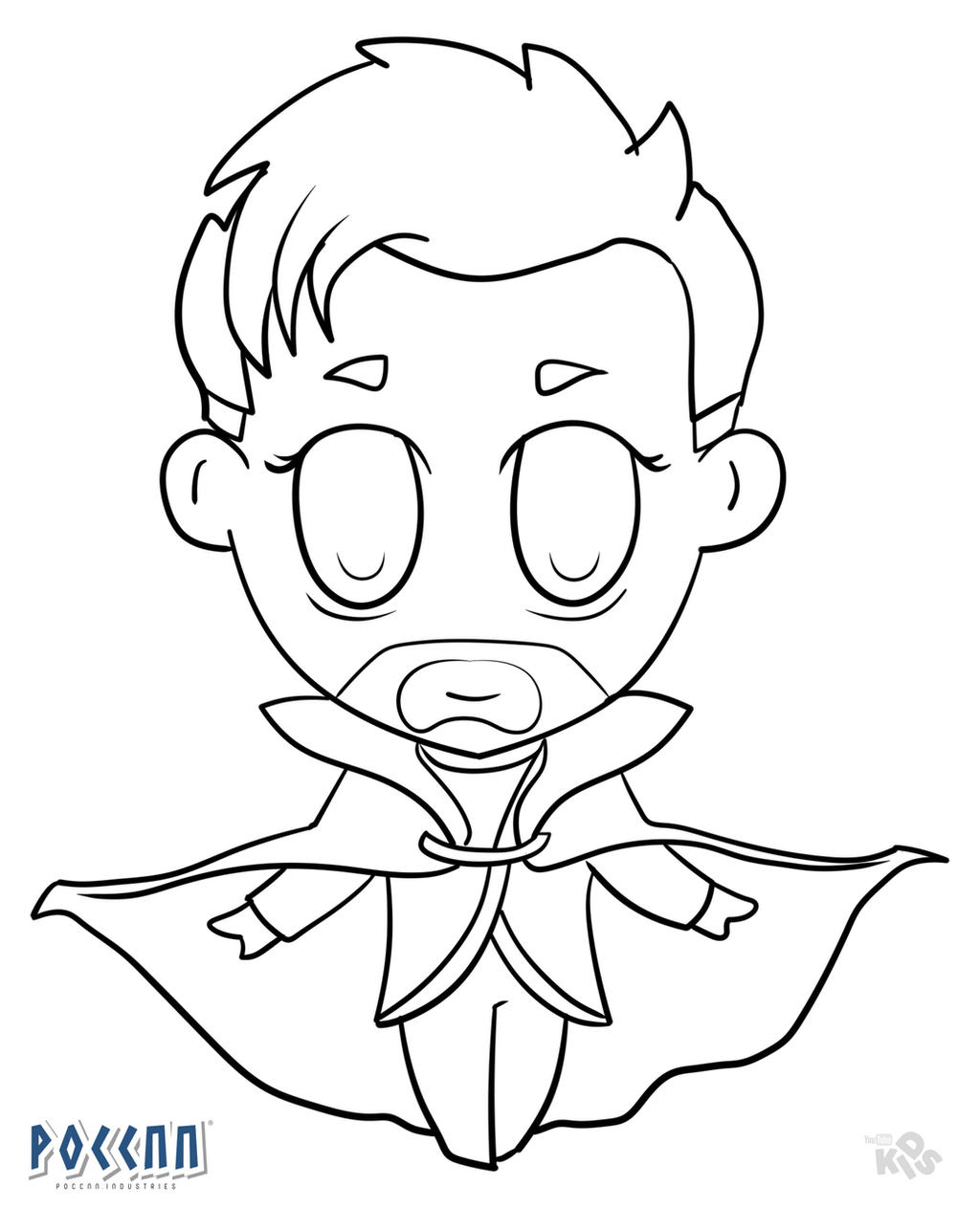 Chibi Doctor Strange to color (Avengers) Lineart by ...