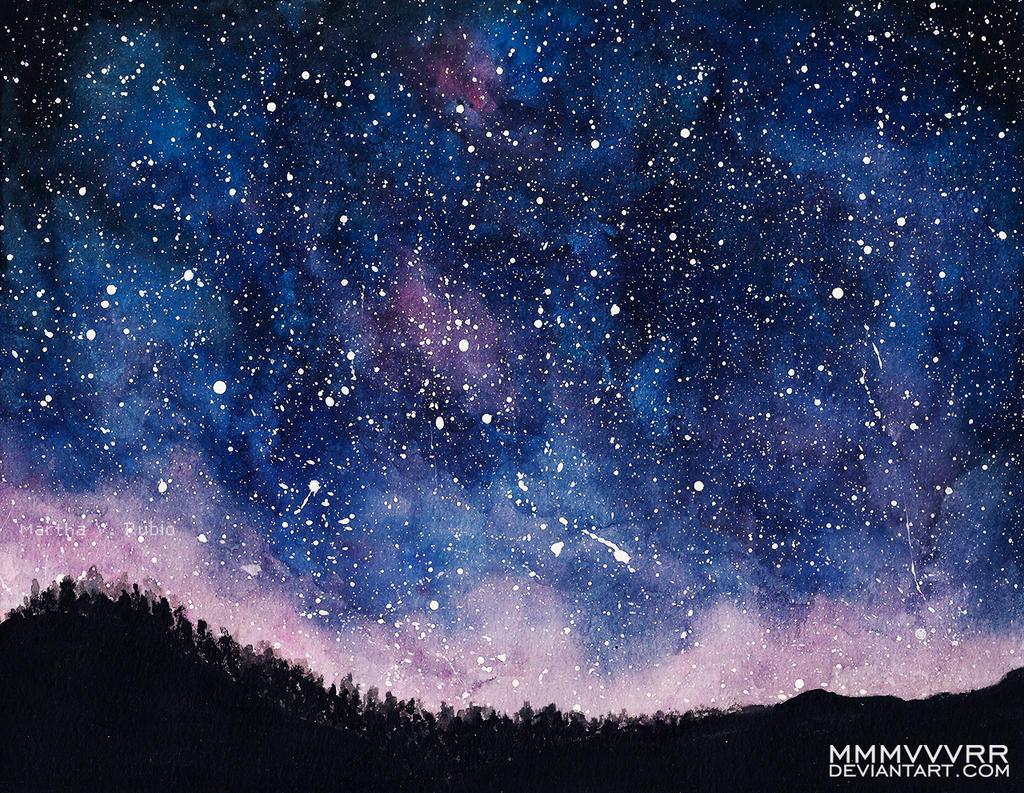 Night Sky by mmmvvvrr on DeviantArt