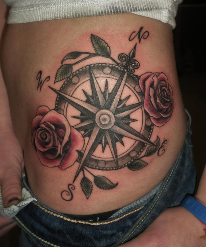 compass rose tattoo by Pushininktattoo on DeviantArt