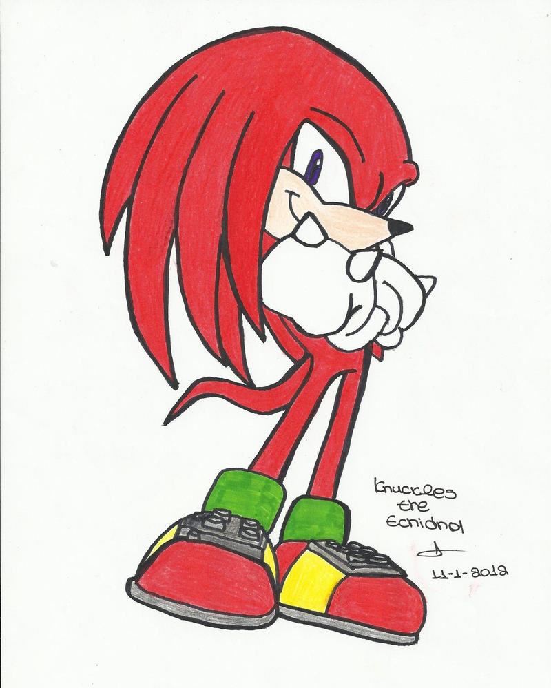 knuckles the echidna by amyprower on DeviantArt