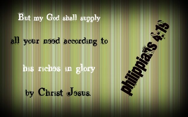 Philippians 4:19 by Menchieee