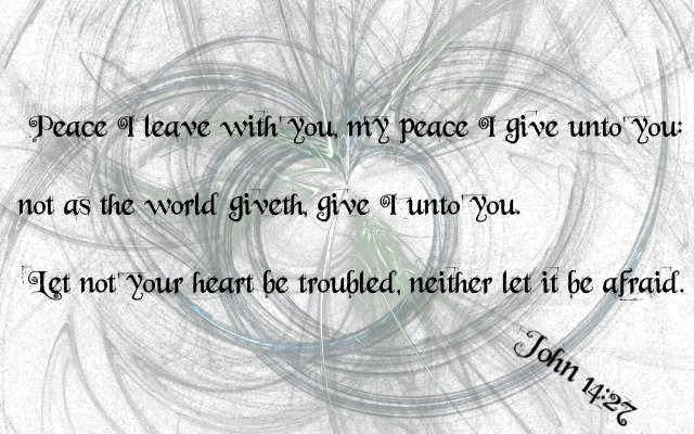 John 14:27 by Menchieee