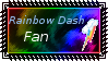 Rainbow Dash Fan by Menchieee