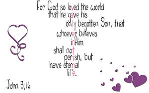 John 3:16 Valentine by Menchieee