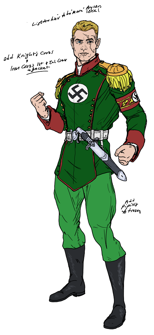 The Aryan aka Captain Nazi WiP - 01 by Spake759