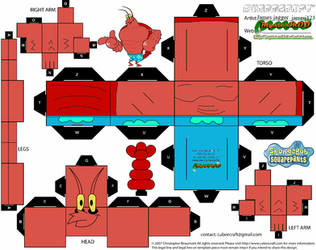 Larry The Lobster Cubeecraft by james-j123