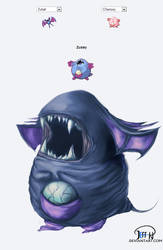 Zubat + Chansey = Zusey by jeffoffo