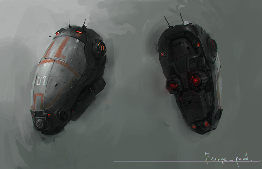 Escape pod by JimHatama