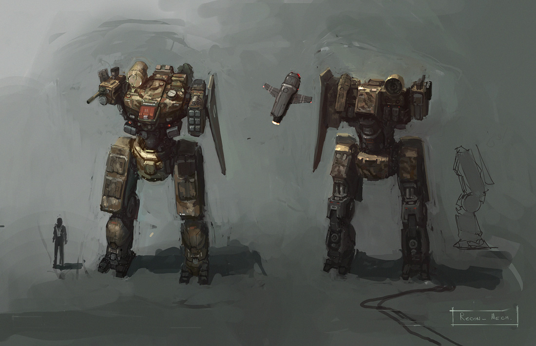 recon mech by JimHatama