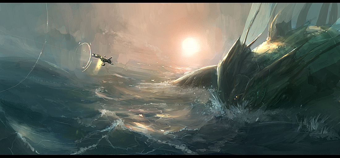 sea monster by JimHatama