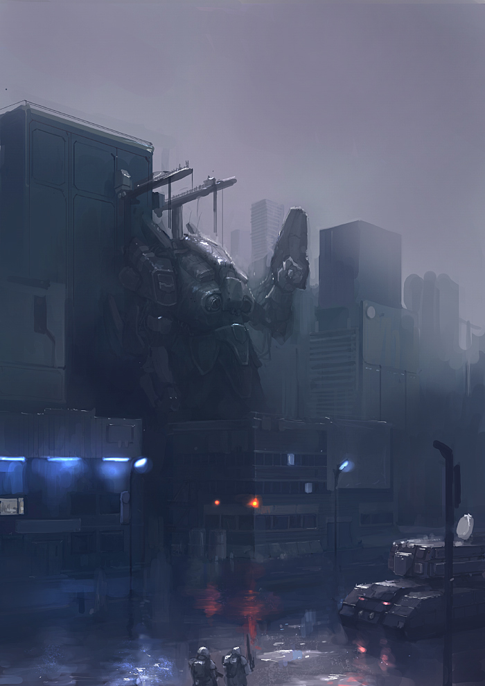 mech_morning by JimHatama