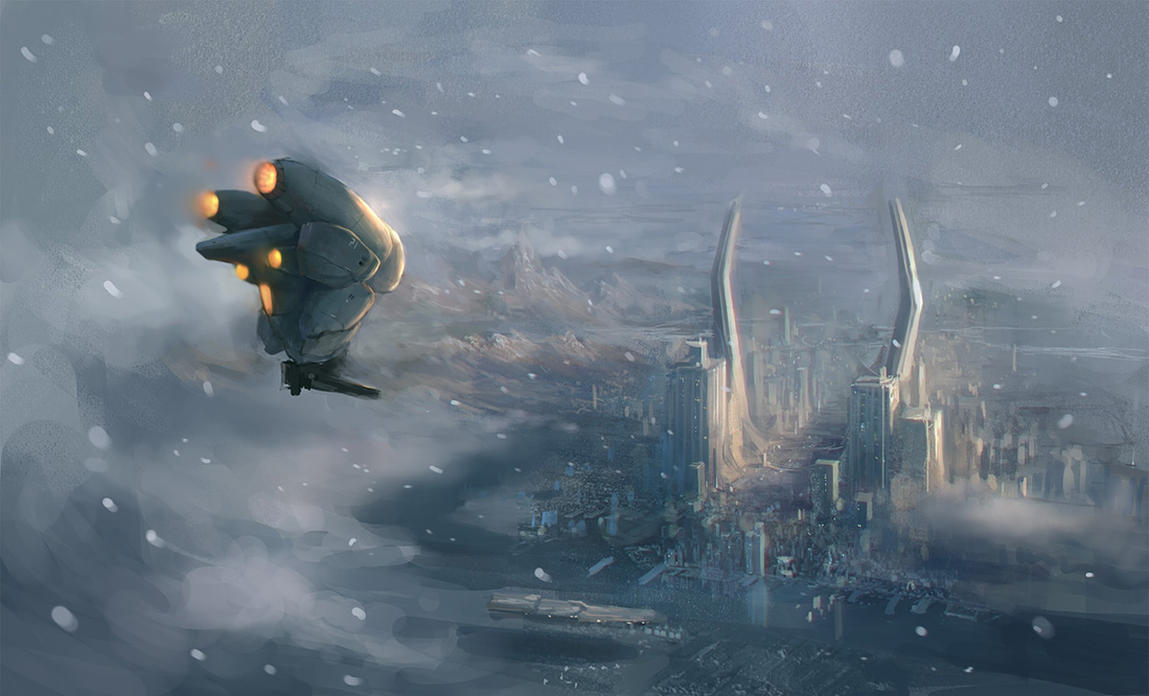 winter flight by JimHatama