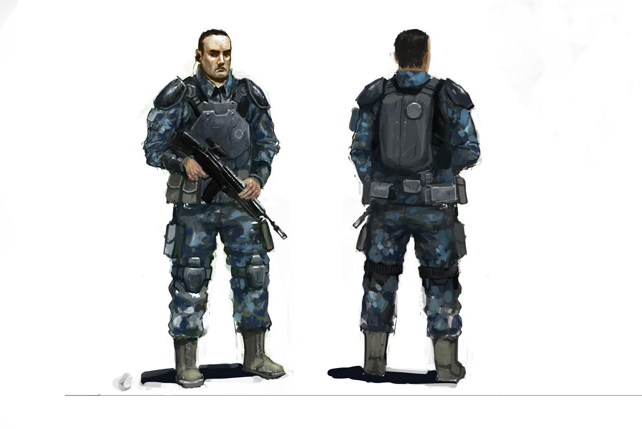 soldier concept by JimHatama
