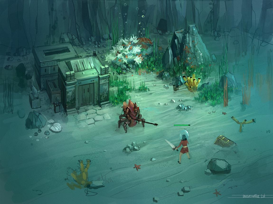 underwater by JimHatama