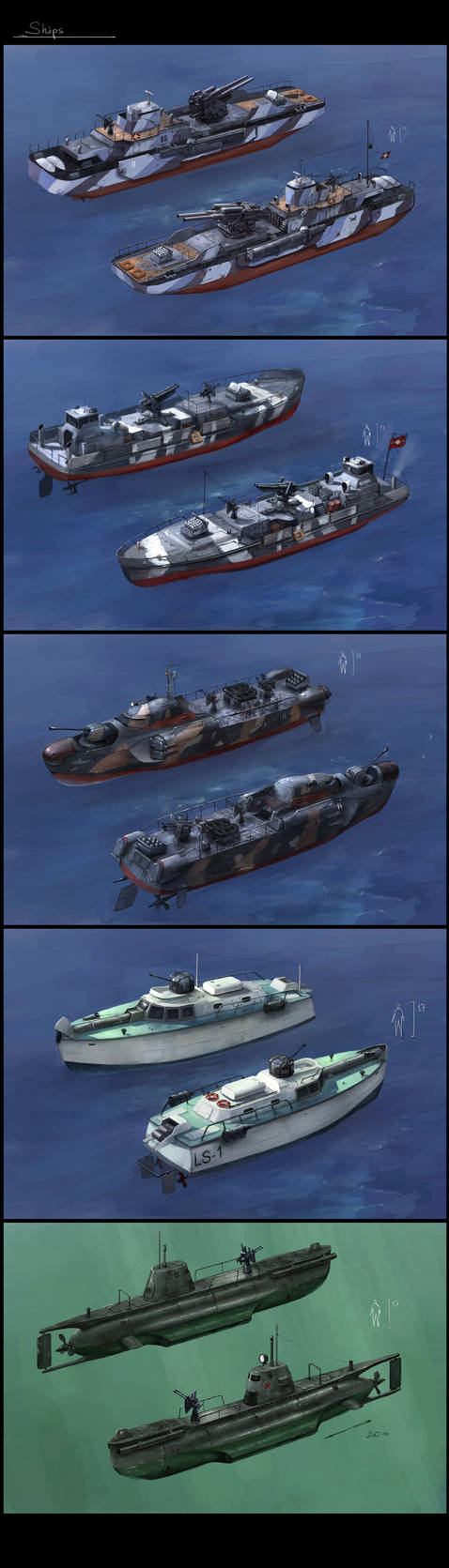 some boats
