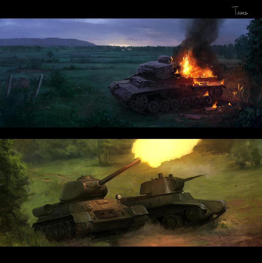 tanks by JimHatama