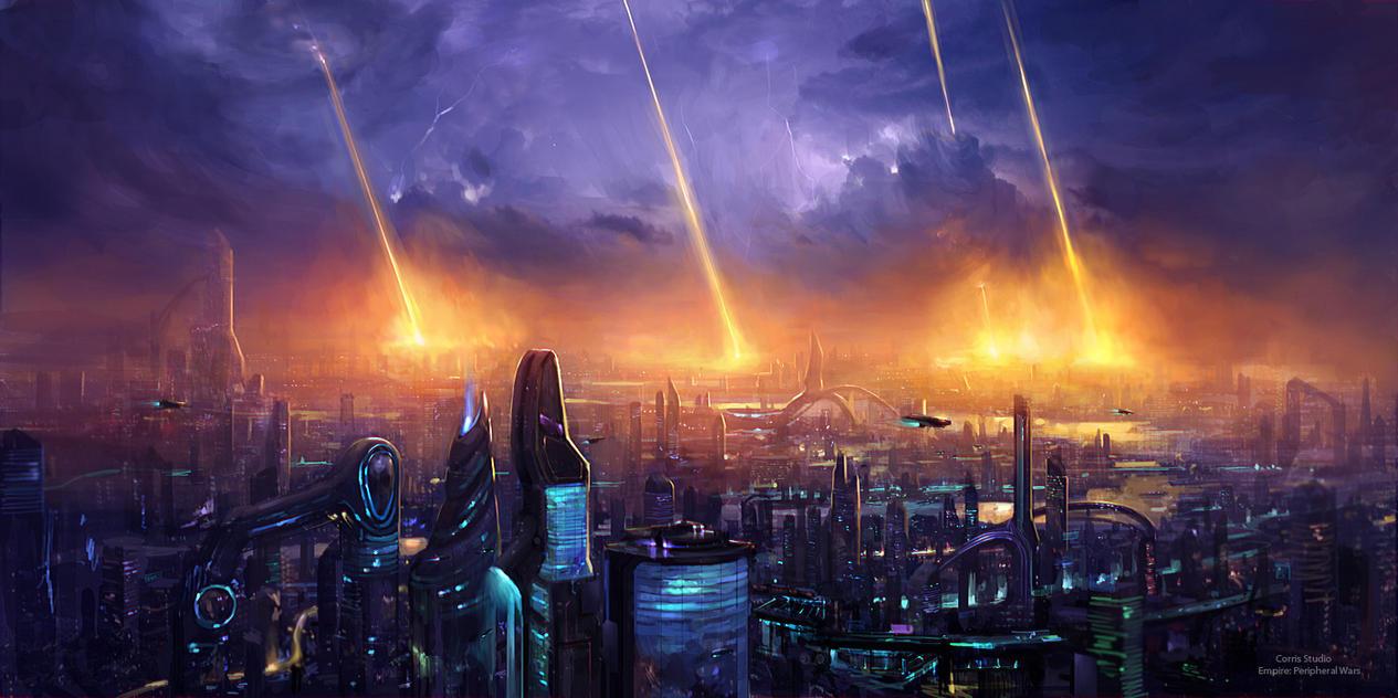 Planetary bombardment 2 by JimHatama