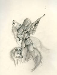 Sniper Wolf by tunetherainbow
